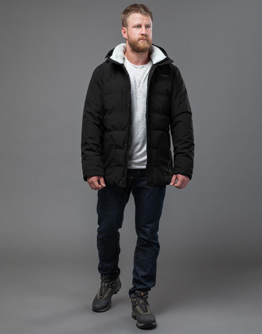Куртка черная оригинальная мужская модель 70292 фото 1