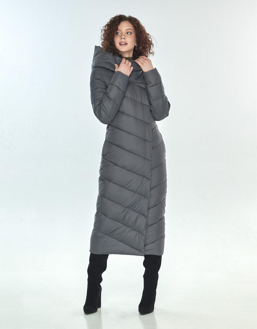Зимняя куртка Moc серая трендовая женская M6471 фото 1