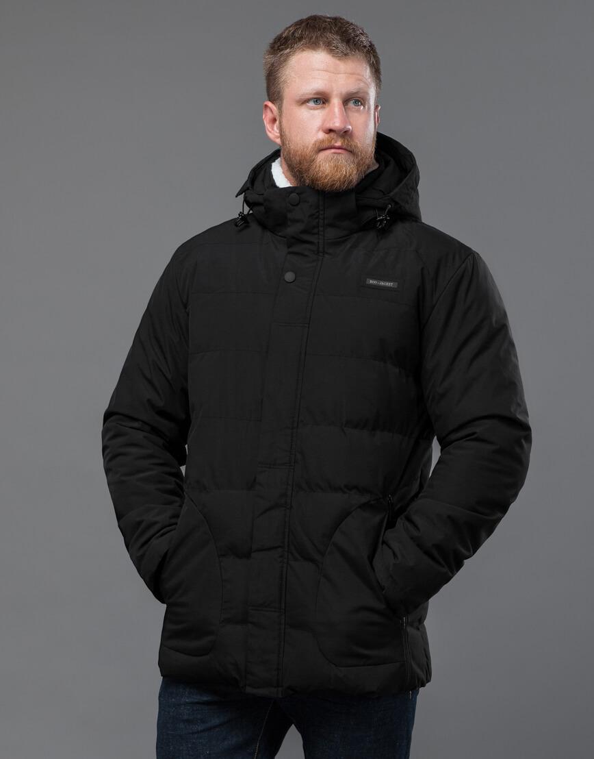 Куртка черная оригинальная мужская модель 70292 фото 3