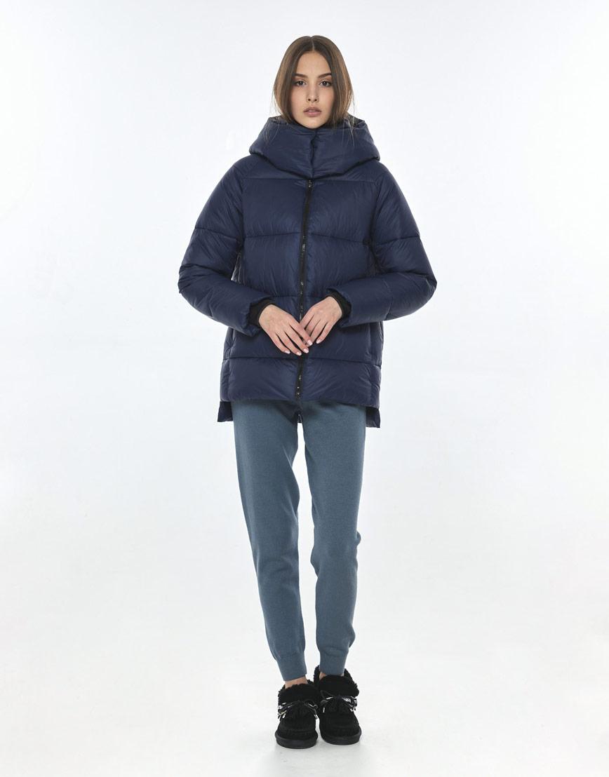 Куртка осенне-весенняя синяя женская Vivacana 7354/21 фото 2