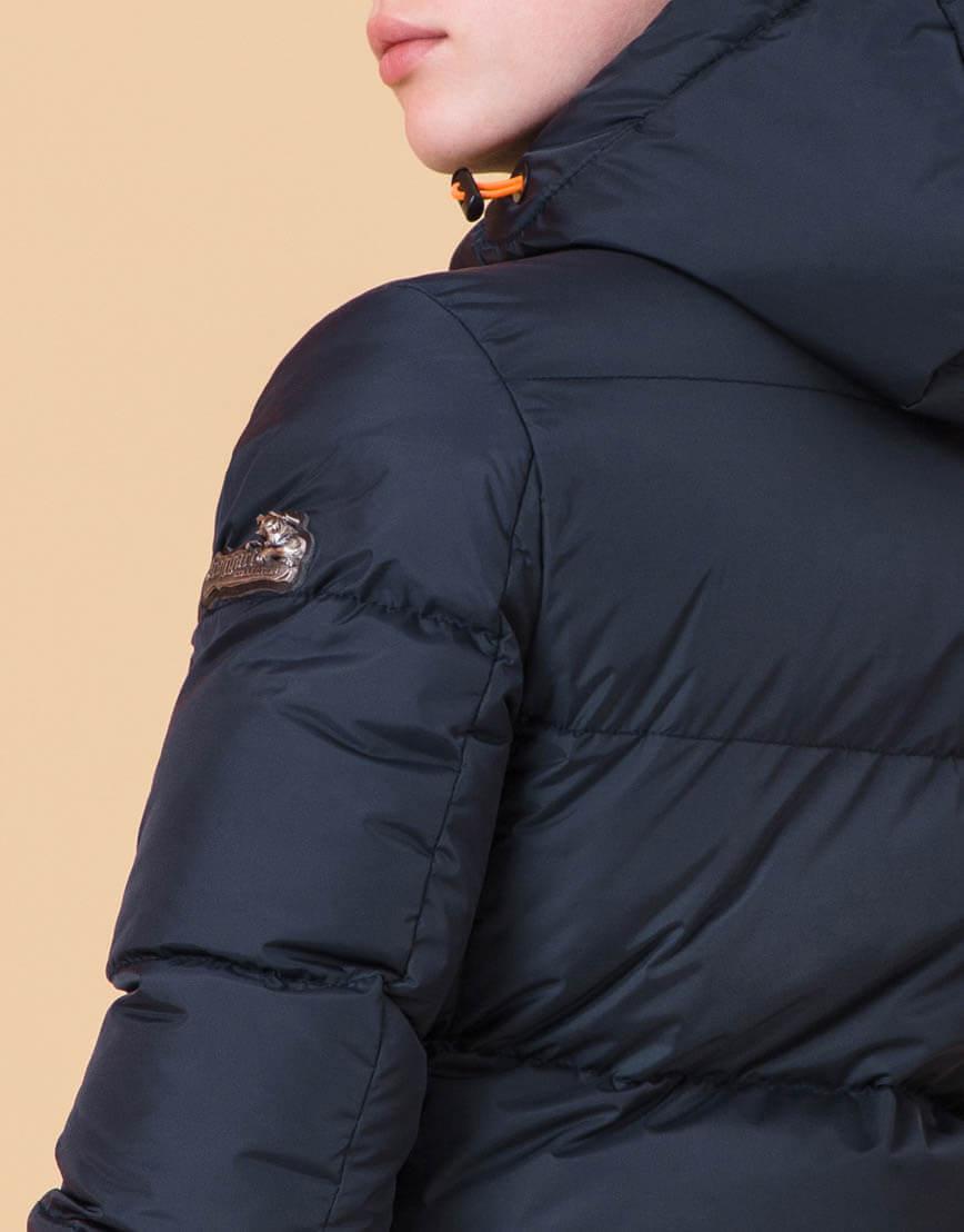 Куртка трендовая детская цвет темно-синий-оранжевый модель 65122 оптом