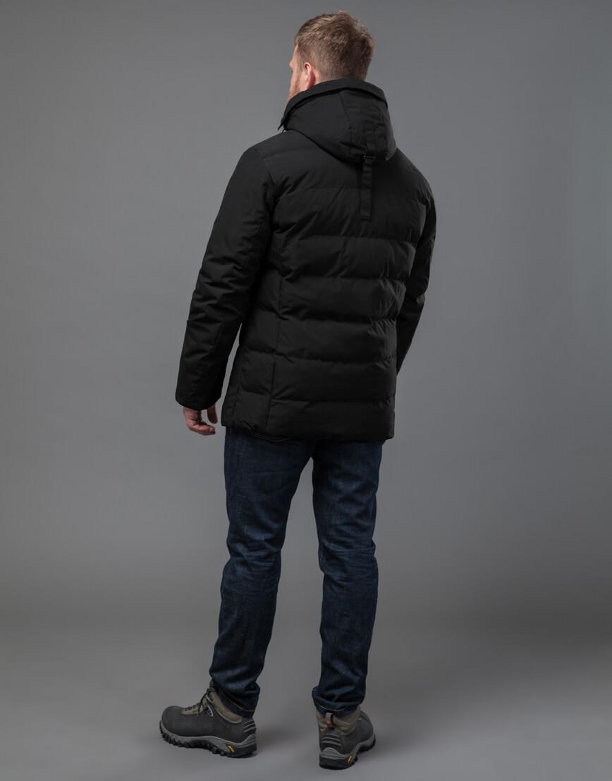 Куртка черная оригинальная мужская модель 70292 фото 4