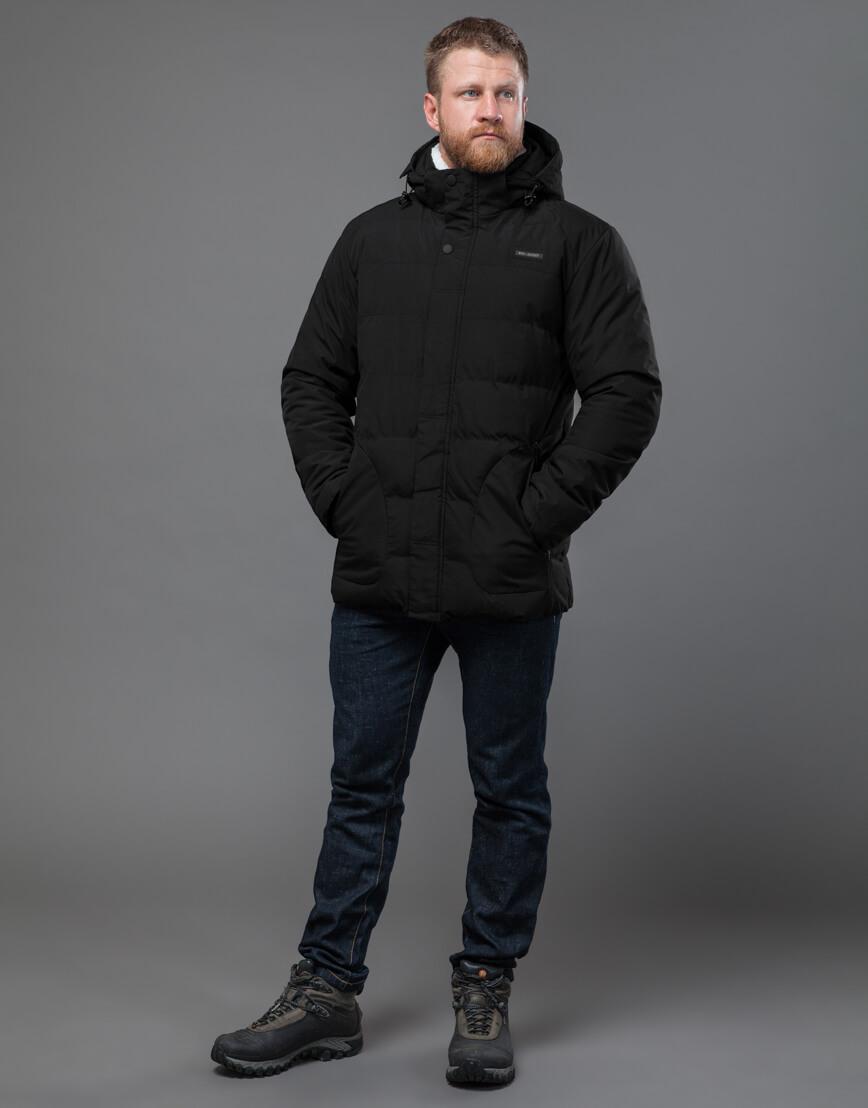 Куртка черная оригинальная мужская модель 70292 фото 2