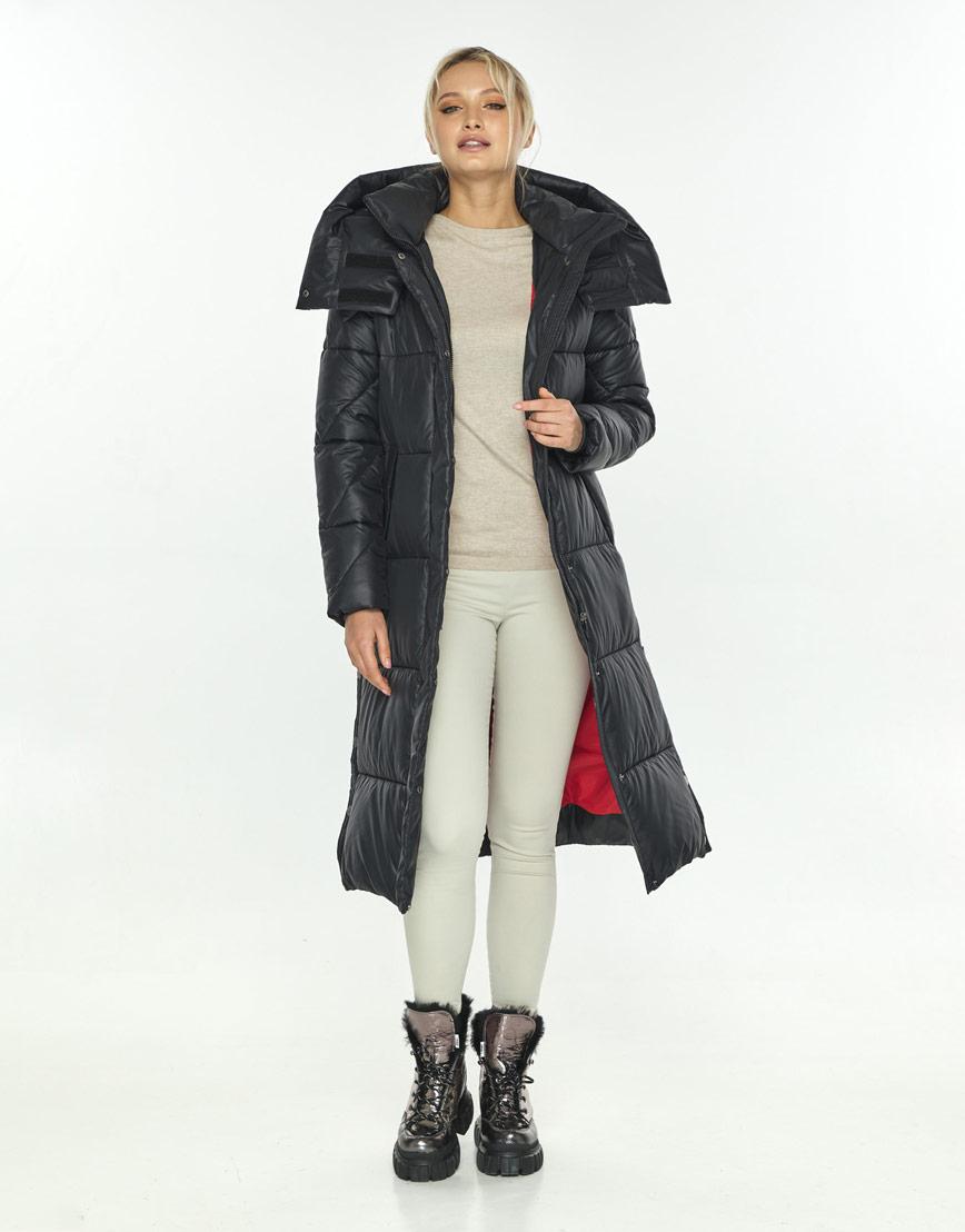 Чёрная комфортная куртка женская Kiro Tokao зимняя 60024 фото 2