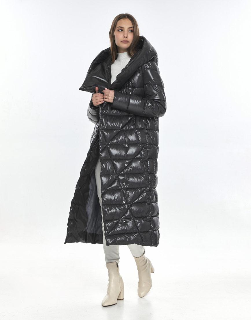 Женская куртка брендовая Vivacana серая зимняя 9470/21 фото 1
