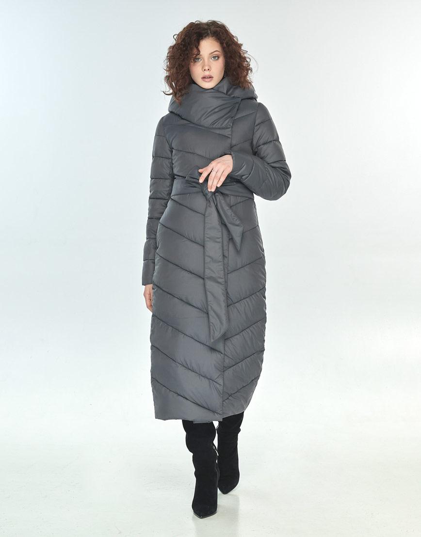 Зимняя куртка Moc серая трендовая женская M6471 фото 2