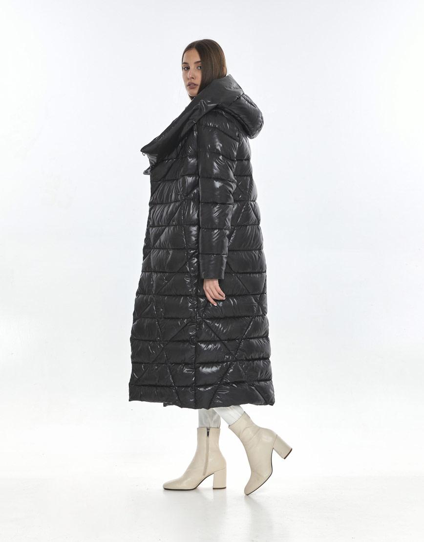 Женская куртка брендовая Vivacana серая зимняя 9470/21 фото 3