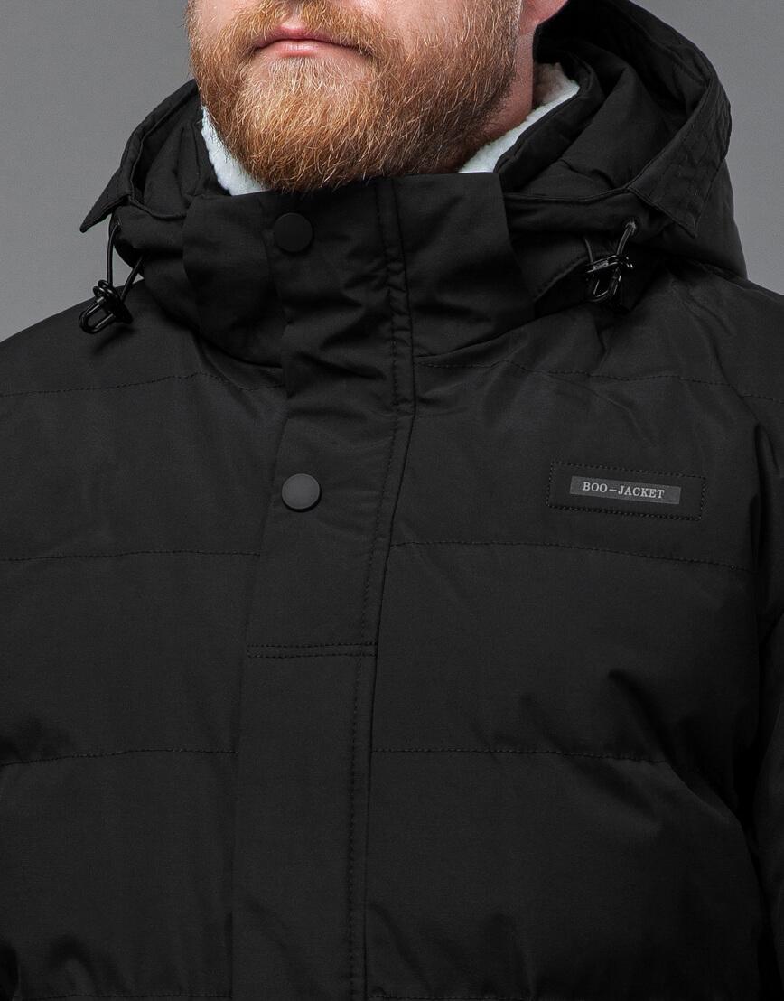 Куртка черная оригинальная мужская модель 70292 фото 5