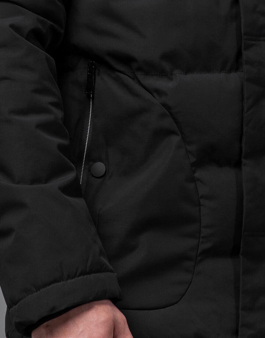 Куртка черная оригинальная мужская модель 70292 фото 6
