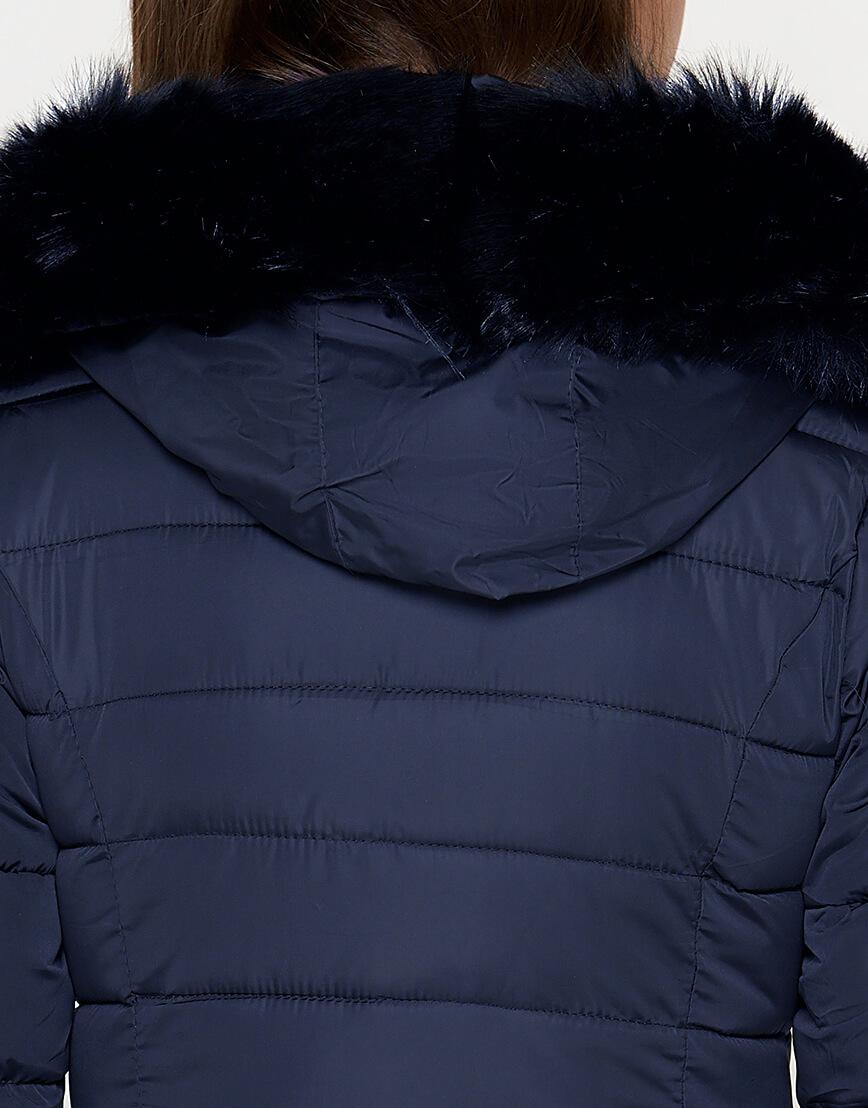 Куртка с опушкой женская синяя модель 1816 фото 5