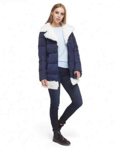 Куртка синего цвета женская модная модель 5153 фото 1