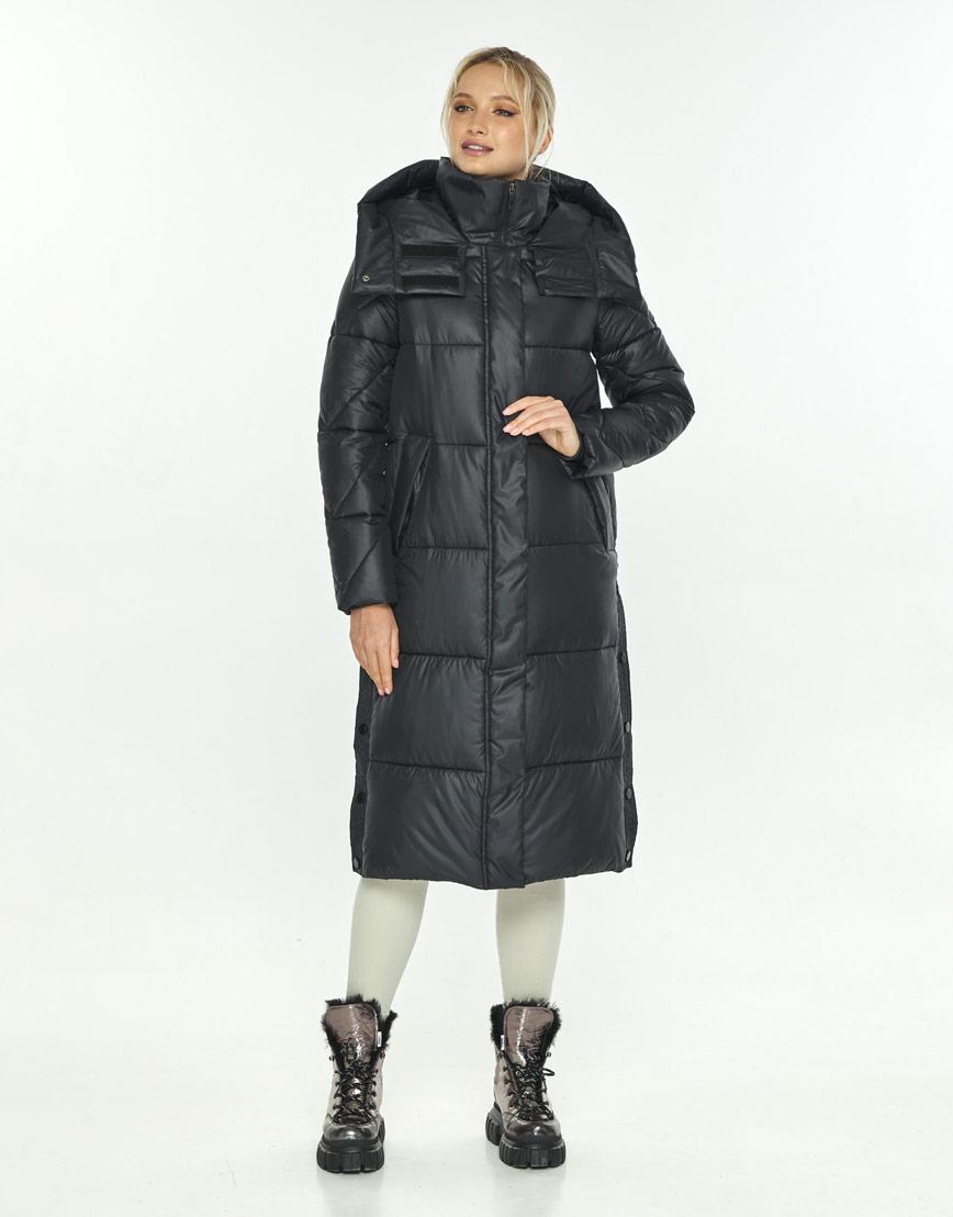 Чёрная комфортная куртка женская Kiro Tokao зимняя 60024 фото 1