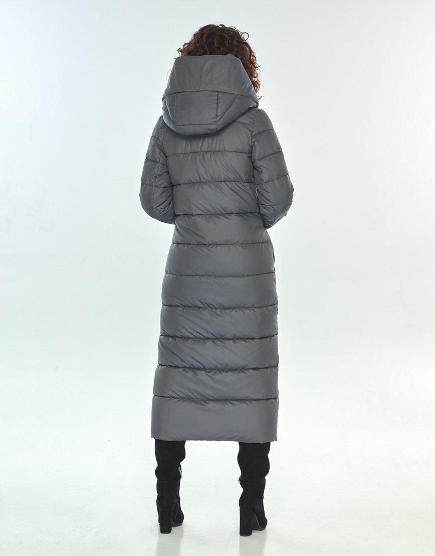 Зимняя куртка Moc серая трендовая женская M6471 фото 3