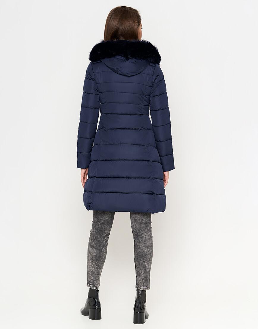 Куртка с опушкой женская синяя модель 1816 фото 3
