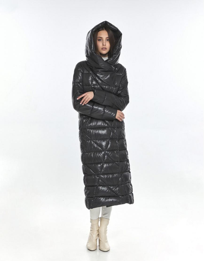 Женская куртка брендовая Vivacana серая зимняя 9470/21 фото 2
