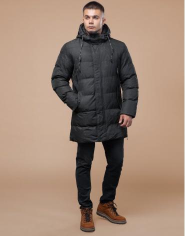 Дизайнерская фирменная куртка молодежная черная модель 25420