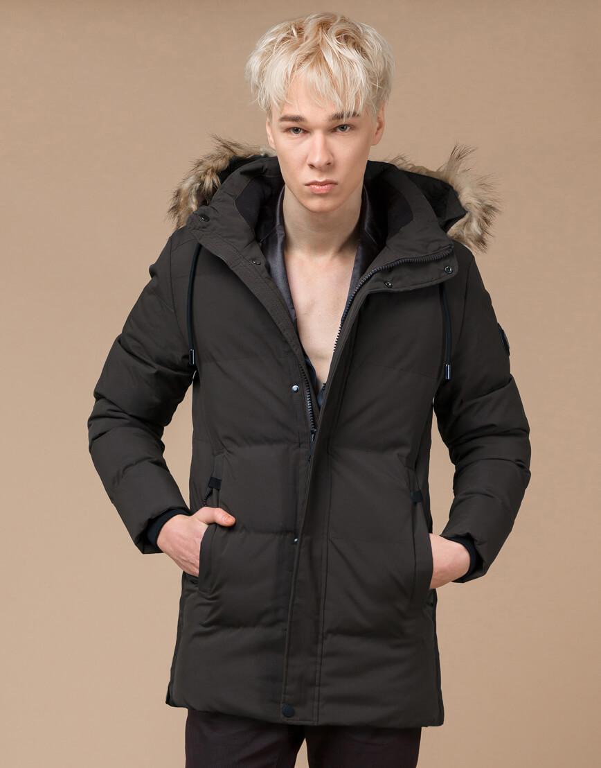 Куртка модная зимняя цвета кофе модель 25090 фото 1