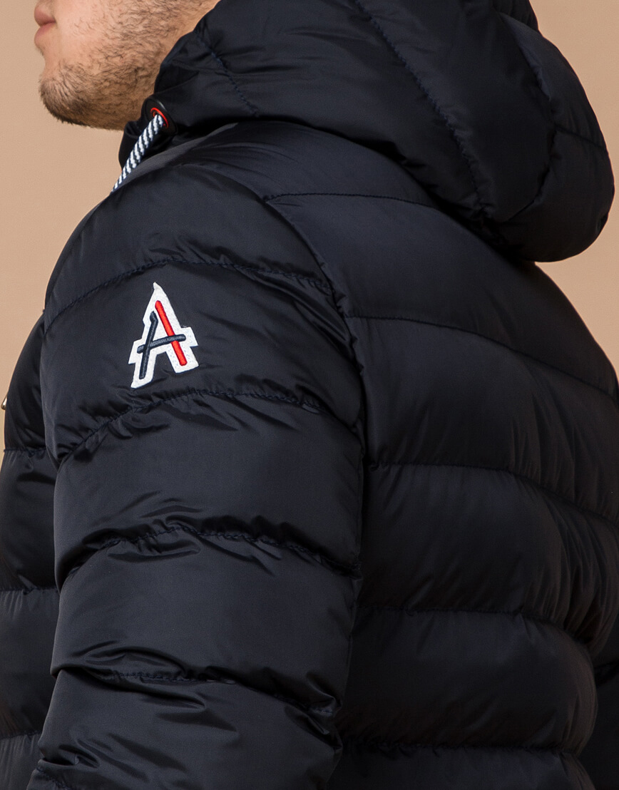 Зимняя куртка мужская цвет темно-синий-красный модель 35228 оптом фото 6