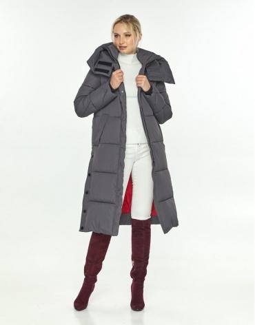 Длинная куртка Kiro Tokao женская серая удобная 60024 фото 1