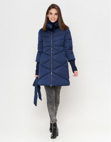 Женская комфортная куртка синего цвета модель 2108