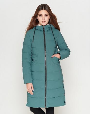 Женская молодежная куртка зеленая модель 25595