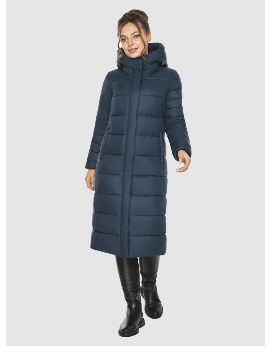 Куртка на девушку практичная Ajento зимняя синяя 21152 фото 6