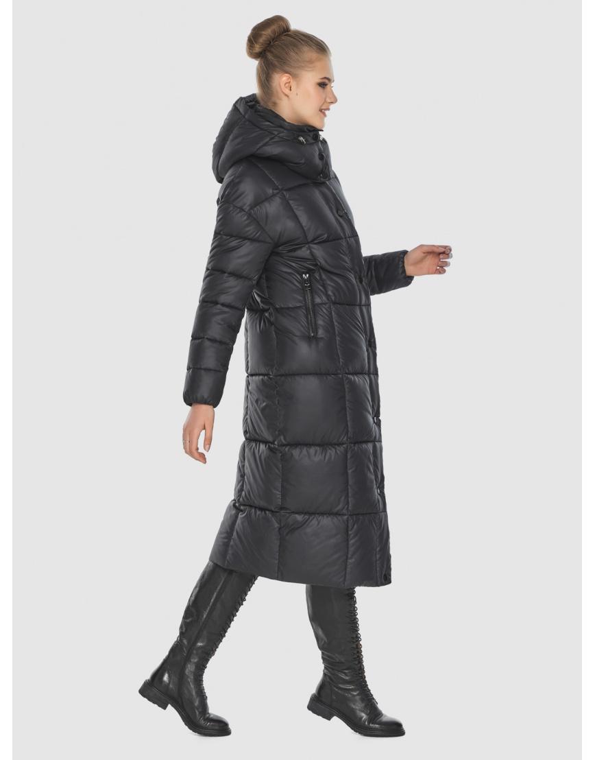 Длинная куртка женская Tiger Force чёрная TF-50247 фото 3