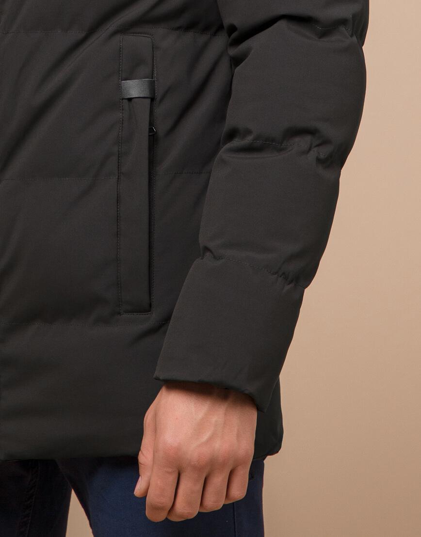 Куртка модная зимняя цвета кофе модель 25090 фото 6
