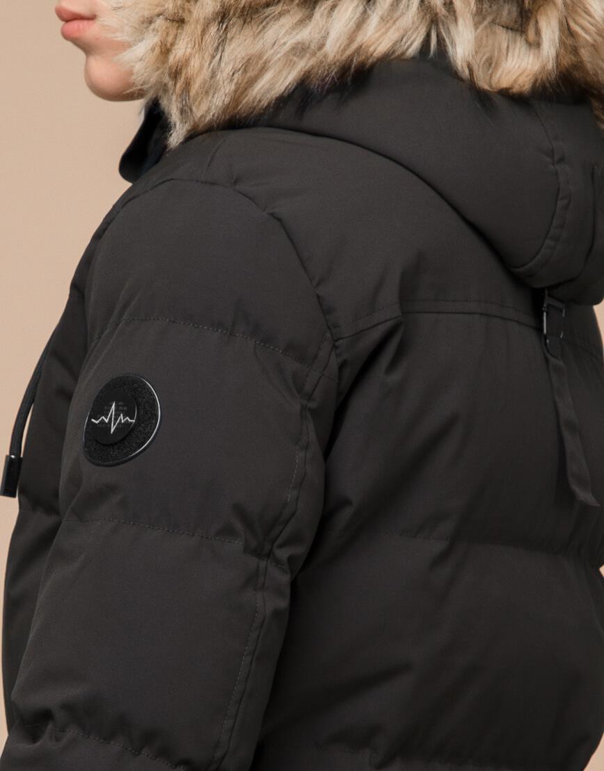 Куртка модная зимняя цвета кофе модель 25090 фото 7