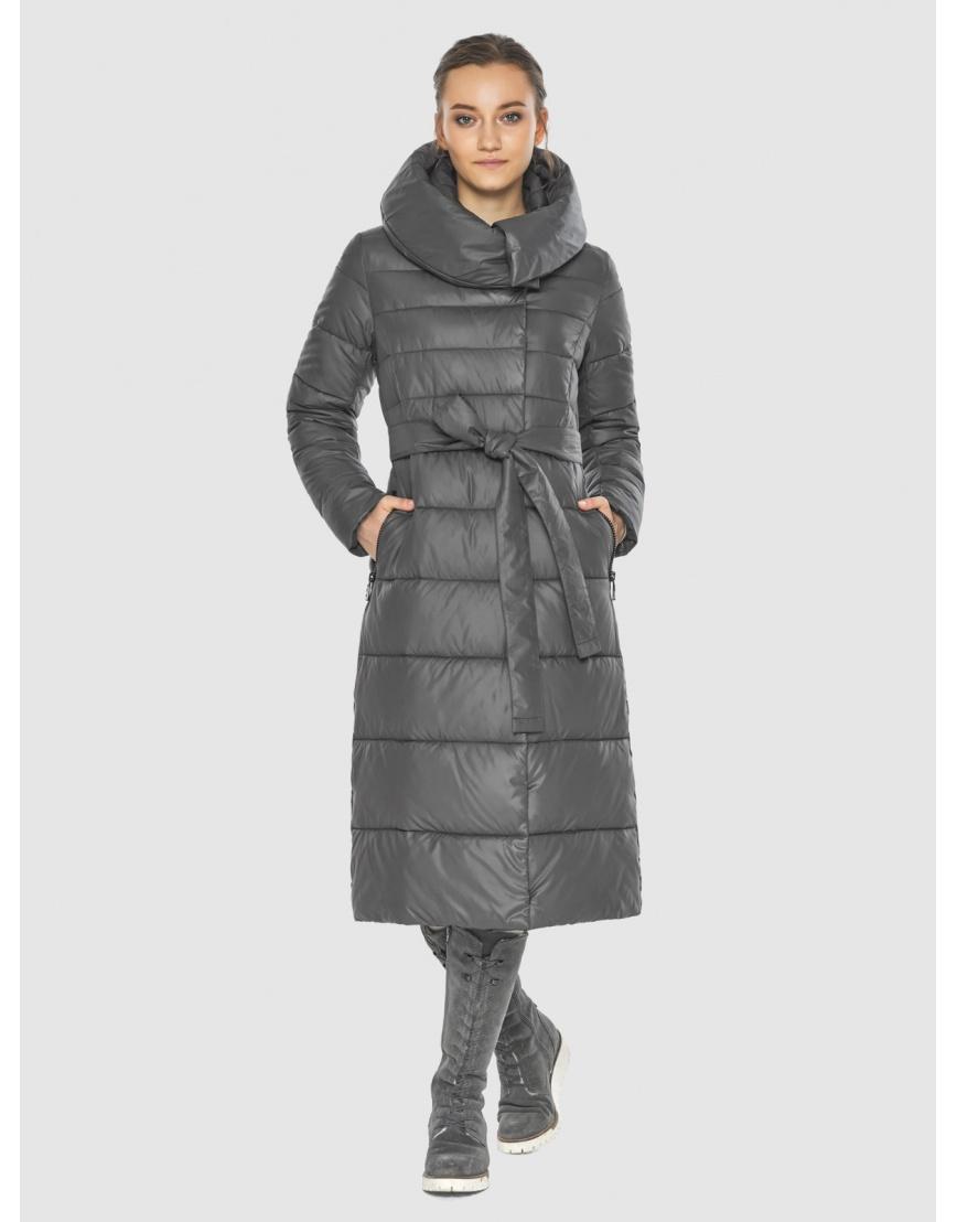 Тёплая зимняя подростковая куртка Wild Club серая 586-25 фото 1
