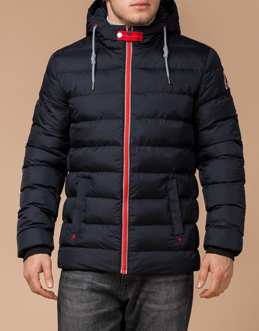 Зимняя куртка мужская цвет темно-синий-красный модель 35228 оптом фото 2