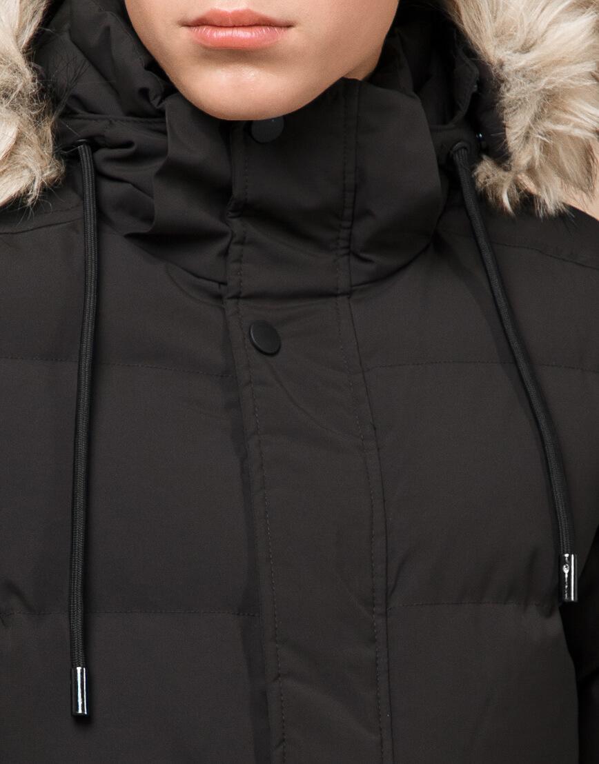 Куртка модная зимняя цвета кофе модель 25090 фото 5