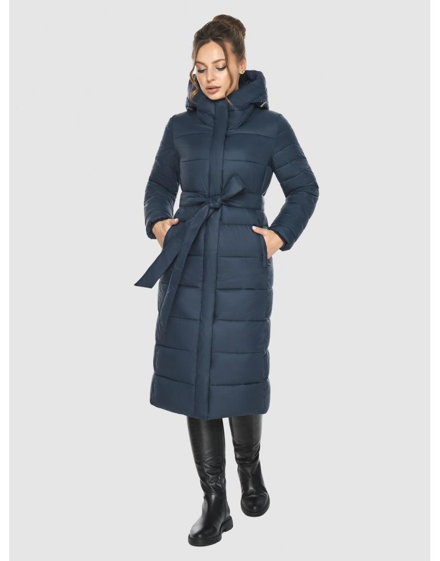 Куртка на девушку практичная Ajento зимняя синяя 21152 фото 1