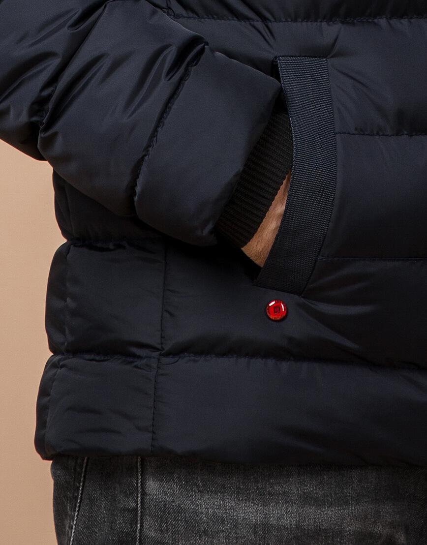 Зимняя куртка мужская цвет темно-синий-красный модель 35228 оптом фото 5