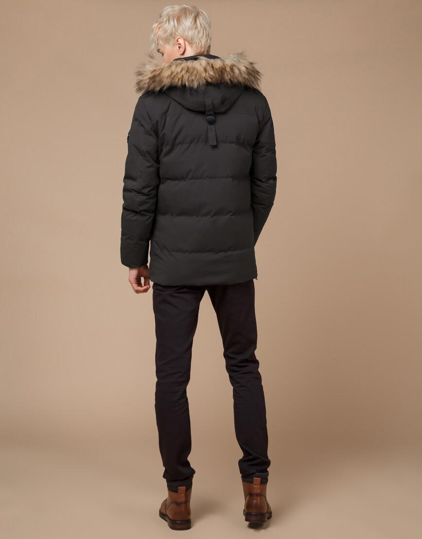 Куртка модная зимняя цвета кофе модель 25090 фото 4