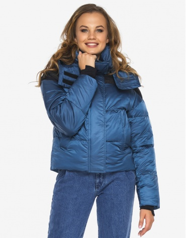 Пуховик куртка Youth молодежная аквамариновая трендовая модель 24180  фото 1