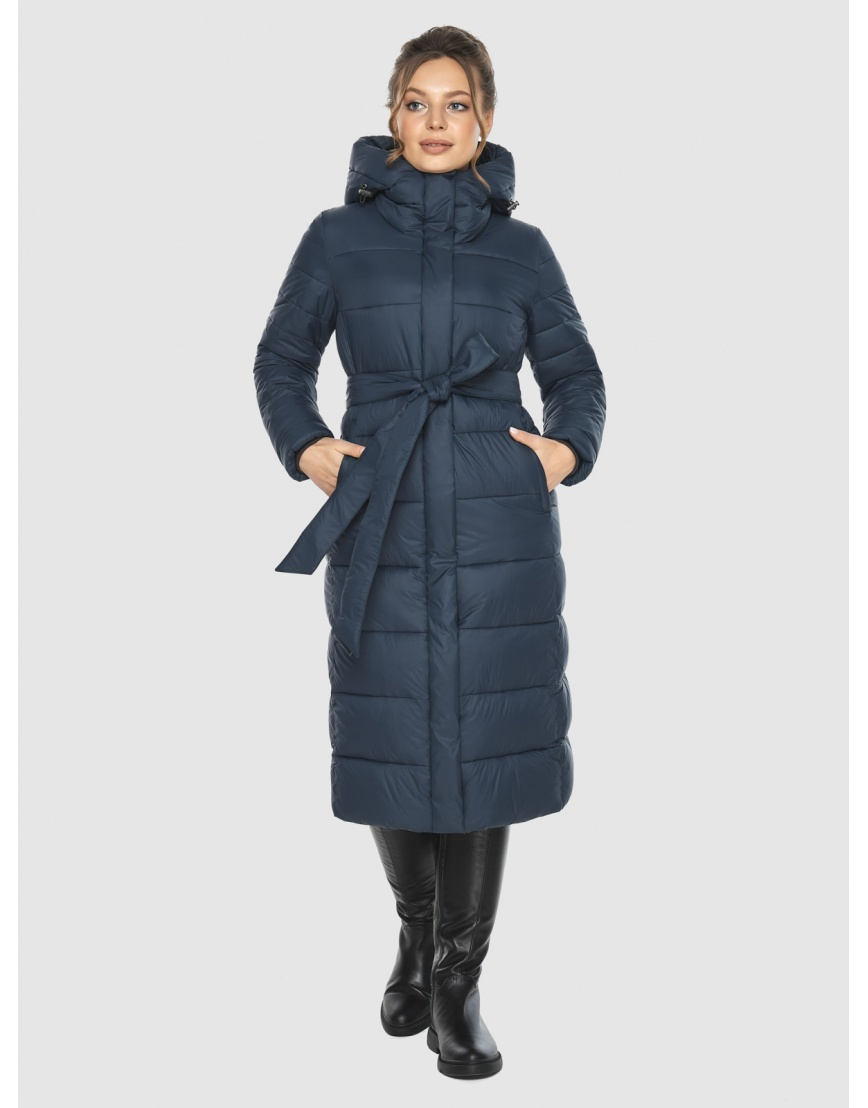 Куртка на девушку практичная Ajento зимняя синяя 21152 фото 5