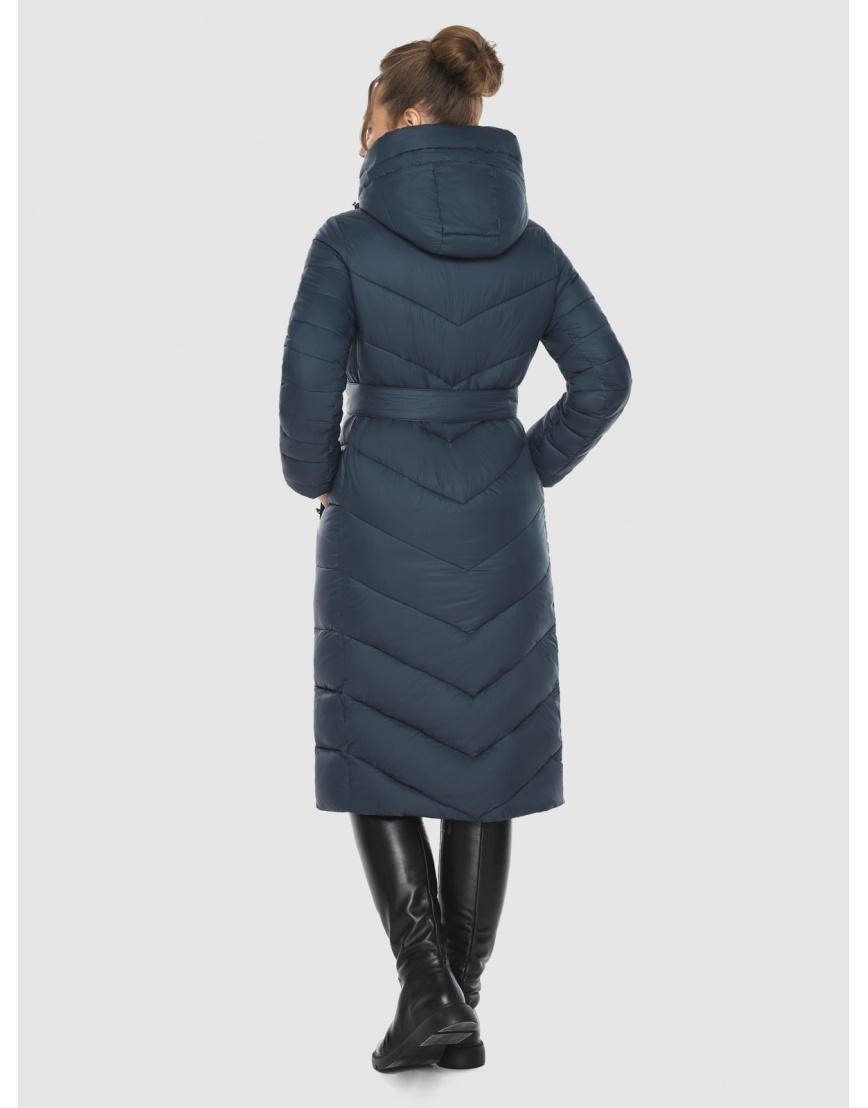 Куртка на девушку практичная Ajento зимняя синяя 21152 фото 4