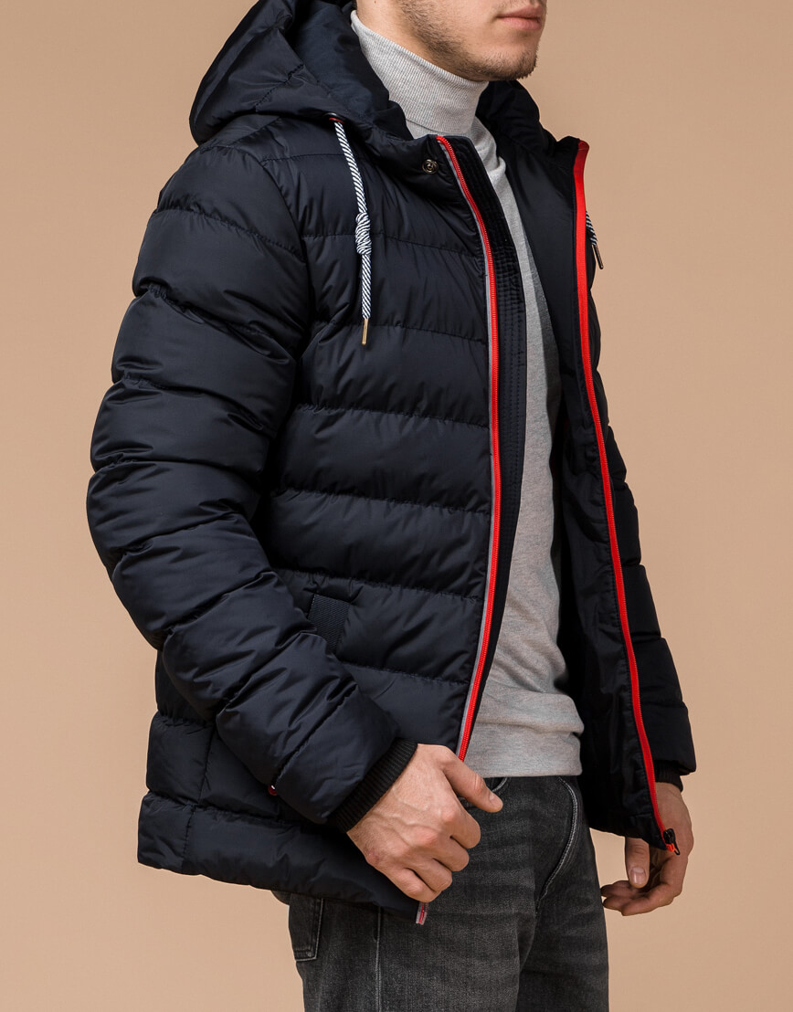 Зимняя куртка мужская цвет темно-синий-красный модель 35228 оптом фото 1