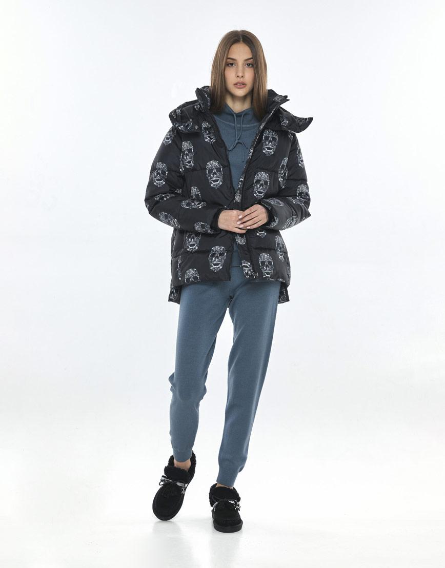Осенняя стильная куртка с рисунком женская Vivacana 7354/21 фото 1