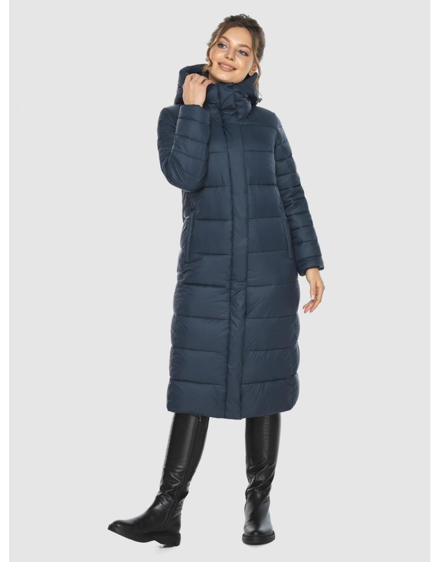 Куртка на девушку практичная Ajento зимняя синяя 21152 фото 3