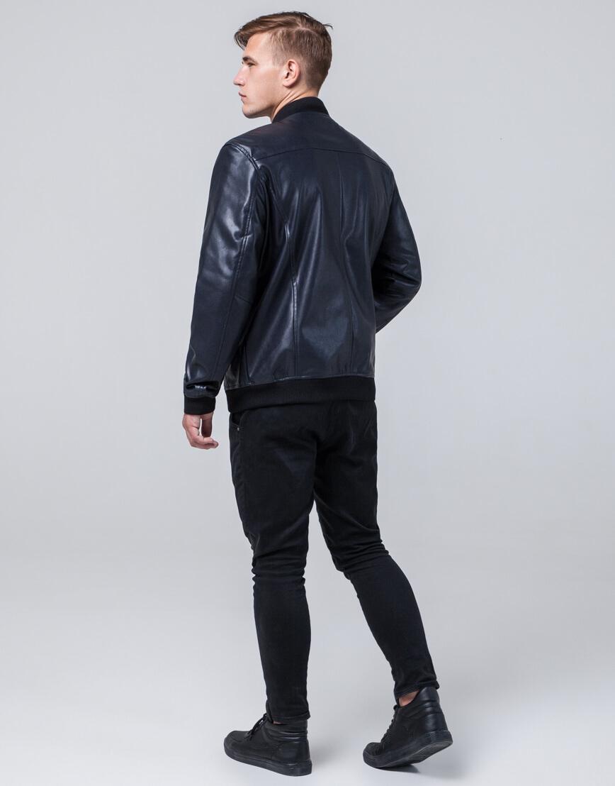 Осенне-весенняя куртка темно-синяя современная модель 4055