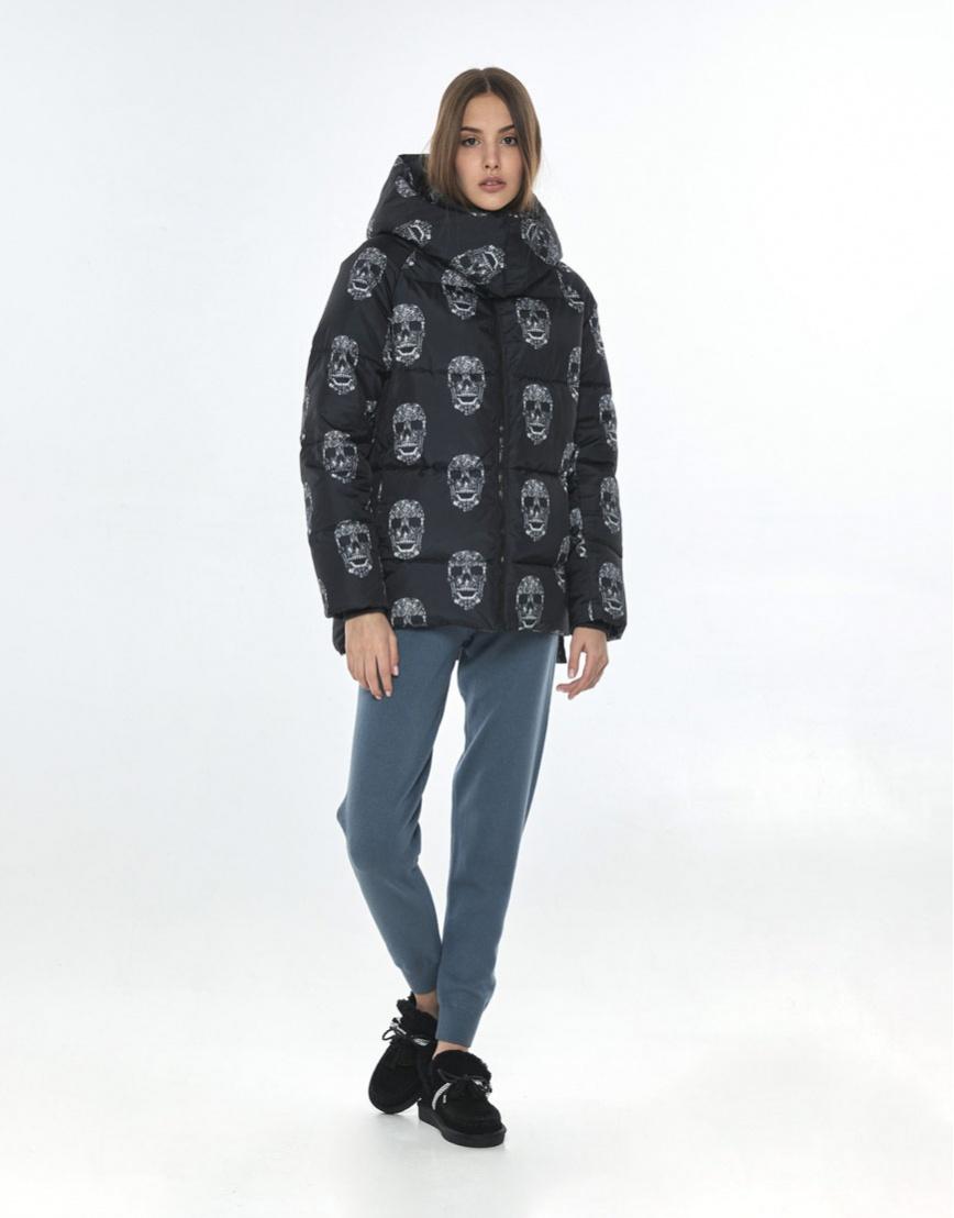Осенняя стильная куртка с рисунком женская Vivacana 7354/21 фото 2