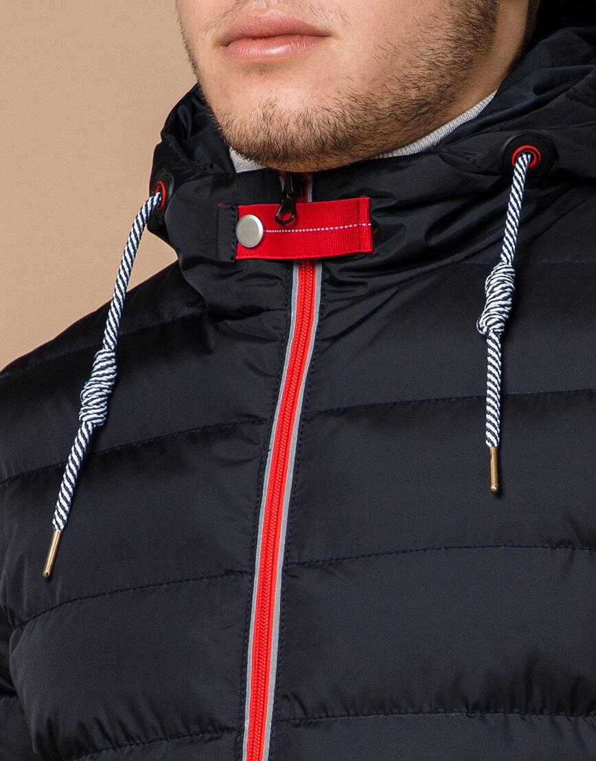 Зимняя куртка мужская цвет темно-синий-красный модель 35228 оптом фото 4