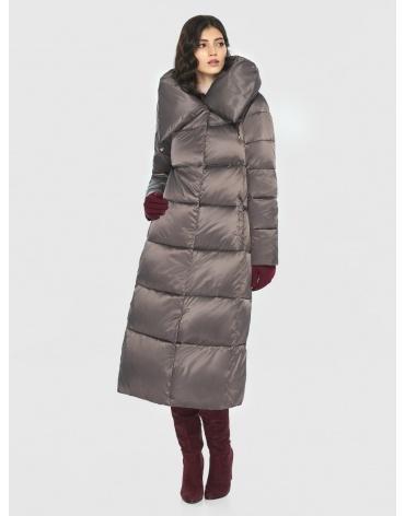 Капучиновая куртка-макси Vivacana женская тёплая 9150/21 фото 1