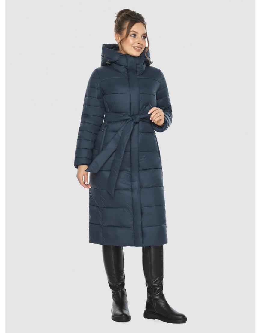 Куртка на девушку практичная Ajento зимняя синяя 21152 фото 2