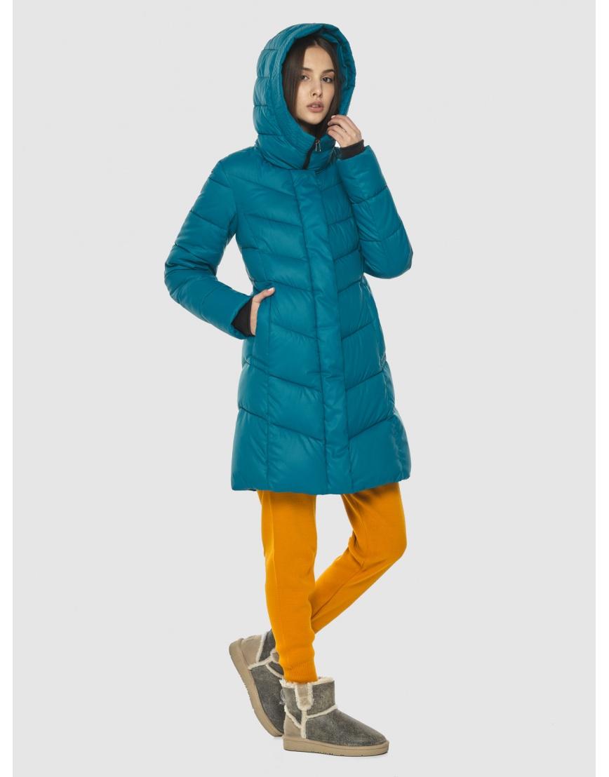 Стильная аквамариновая куртка женская Vivacana 7821/21 фото 5