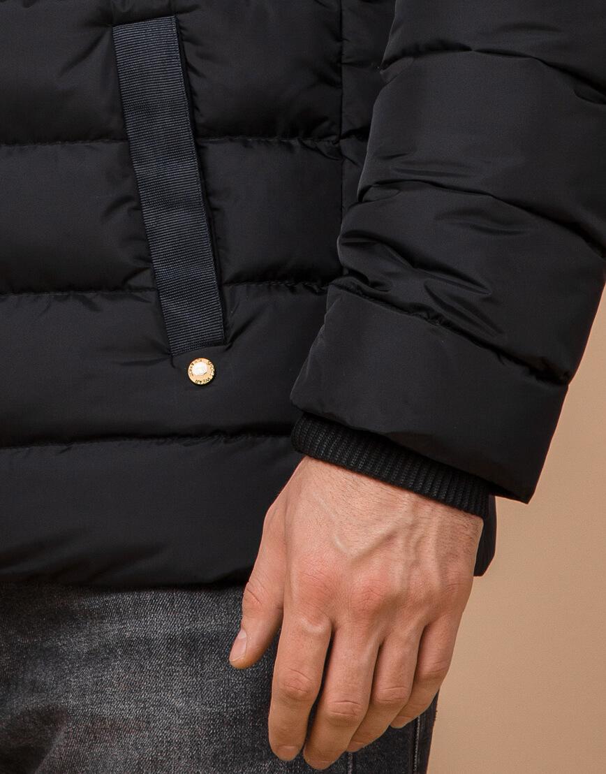 Куртка на зиму мужская цвет черный-желтый модель 35228 оптом фото 5