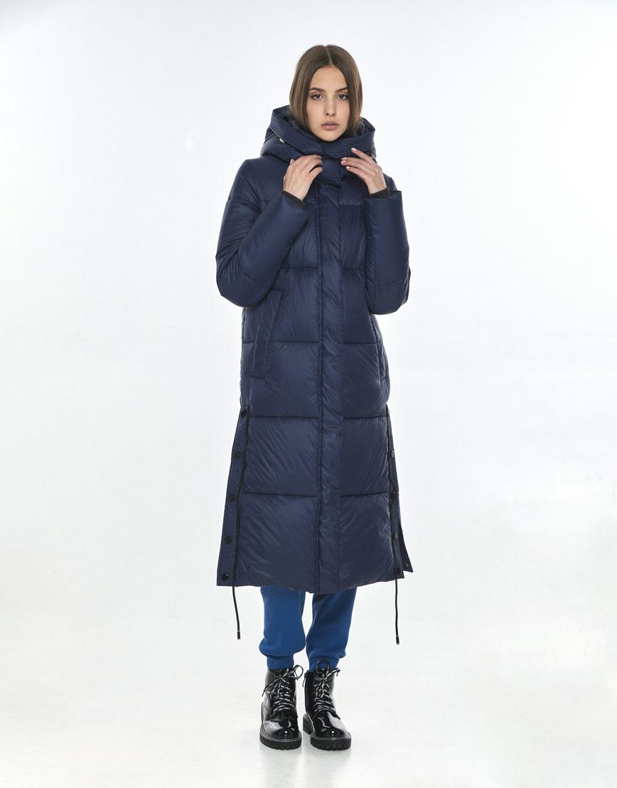 Синяя модная куртка Vivacana женская для зимы 7654/21 фото 1