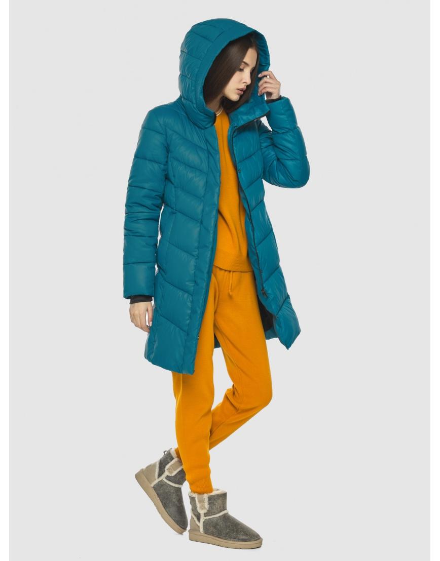 Стильная аквамариновая куртка женская Vivacana 7821/21 фото 6